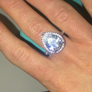 ❤️NEW❤️ 5CT White Sapphire Sterling Silver Ring